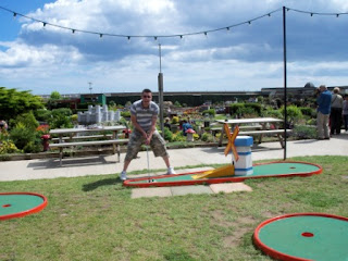 Crazy Golf at the Merrivale Model Village in Great Yarmouth, Norfolk