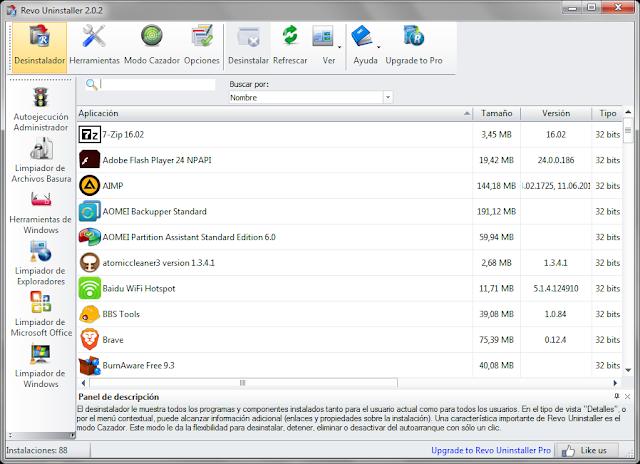 Revo Uninstaller 2.1.5 + Portable - Desinstala programas sin dejar rastro