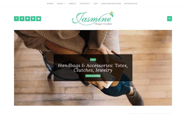 Jasmine Elegant Blogger Template