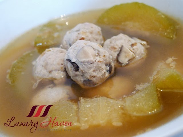chinese hairy gourd mushroom meatball soup recipe