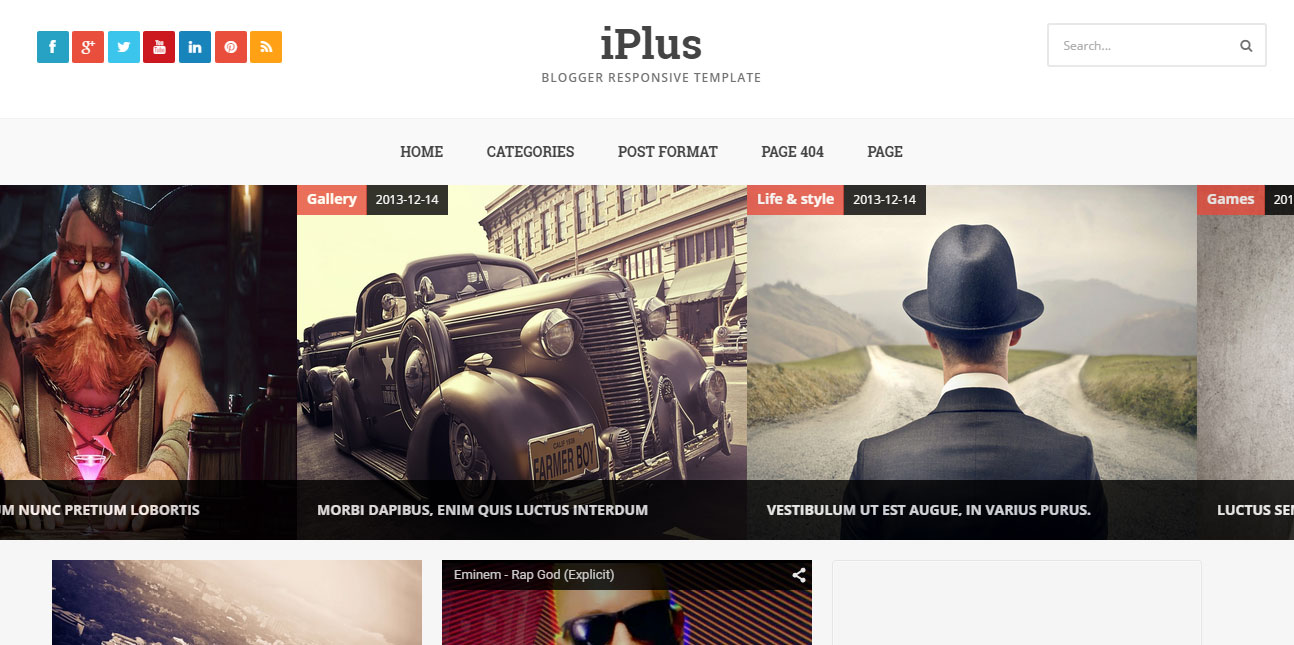 IPlus Responsive Blogger Template