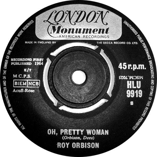 Roy orbison pretty woman single