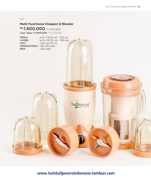 Multi Functional Chopper & Blender, Blender Tulipware 2017