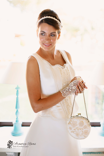 Bridal gloves and purse