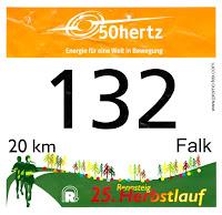 Startnummer zum 25. Rennsteig-Herbstlauf