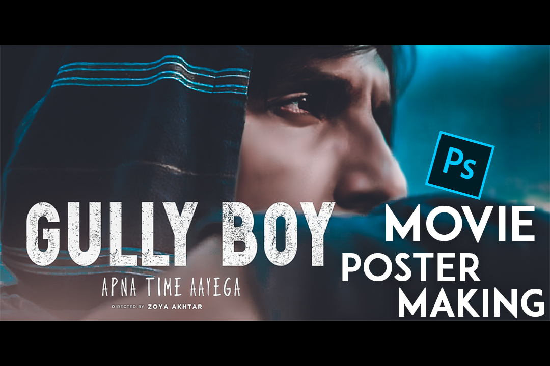 GULLY BOY POSTER MAKING IN PHOTOSHOP CC 2019 // Gully boy Font free