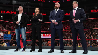 WWE Triple H Shane O'Mac Stephanie Vince McMahon Raw Authority