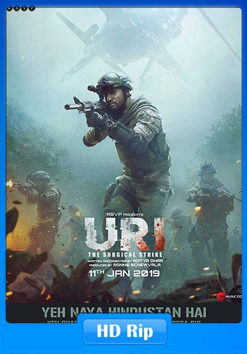 Uri The Surgical Strike 2019 Hindi 720p HDRip x264 | 480p 300MB | 100MB HEVC