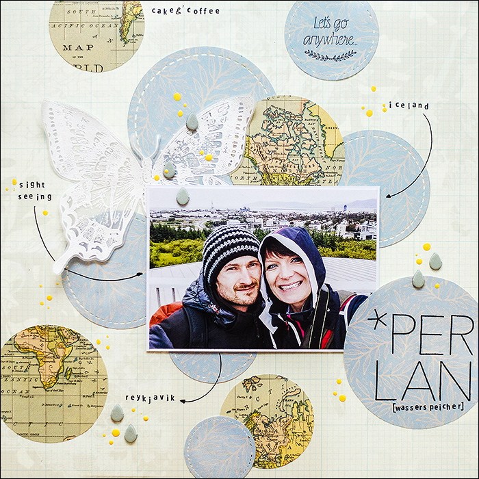 Stephanie Berger - Scrapbooking Layout - Perlan Iceland