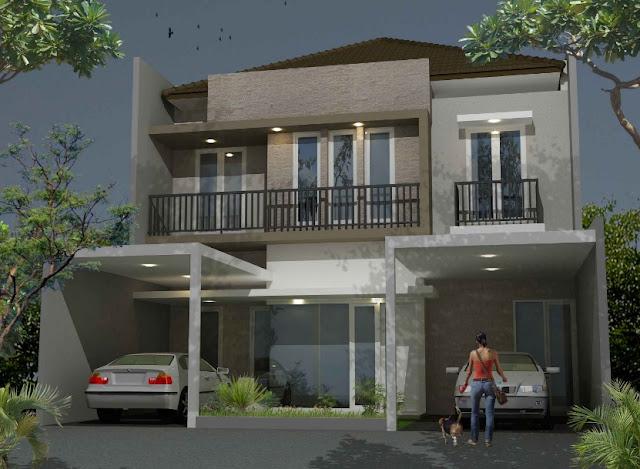 desain rumah kecil sederhana 2 lantai