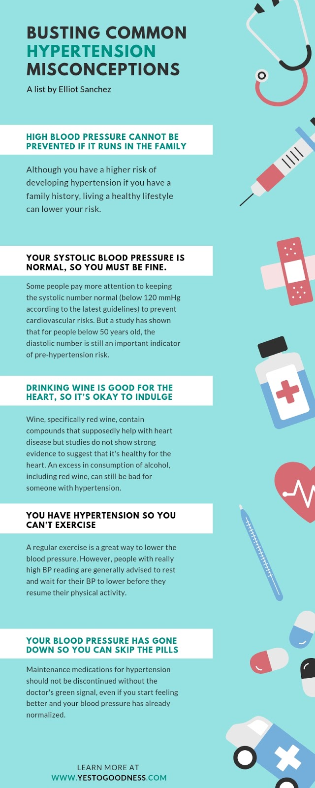 busting common hypertension misconceptions [yestogoodness.com]