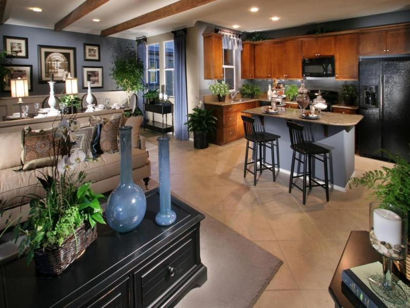 Small Open Plan Kitchen Living Room Home Interior Exterior Decor Design Ideas