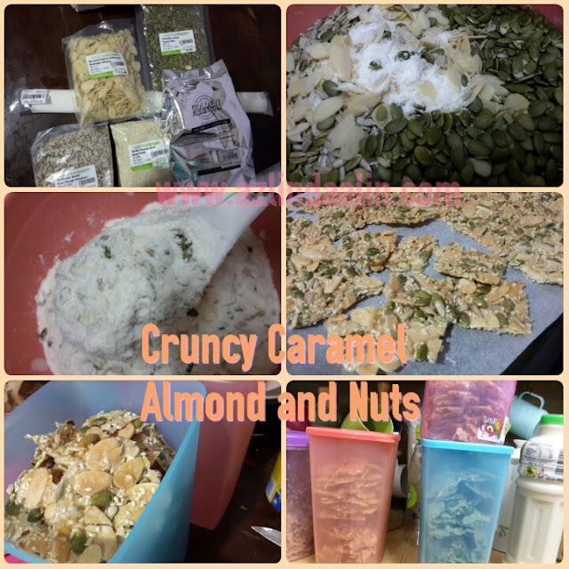 RESEPI MUDAH KUIH RAYA 2016 CRUNCHY ALMOND NUTS