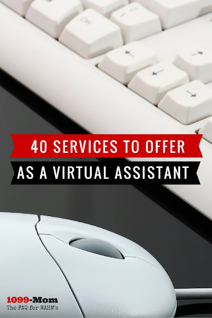 A list of 40 best virtual assistant services jobs you can provide to clients.