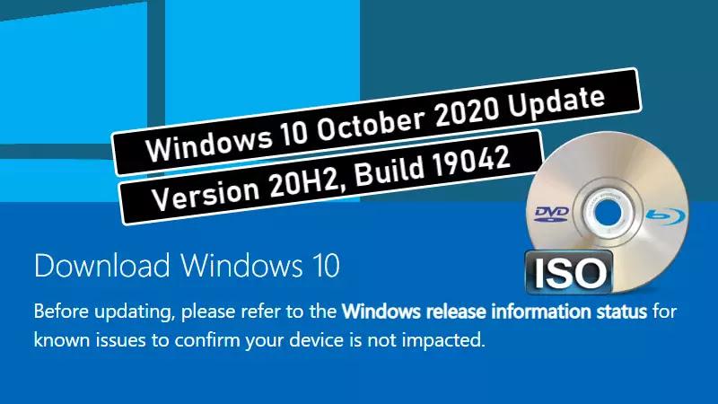 Download Windows 10 October 2020 Update (20H2) ISO images