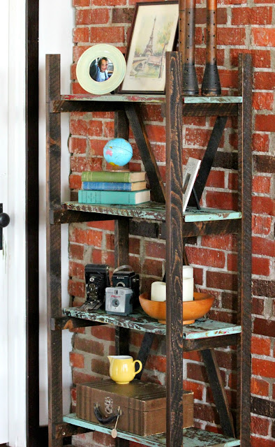 Rustic Chippy Farmhouse Shelf