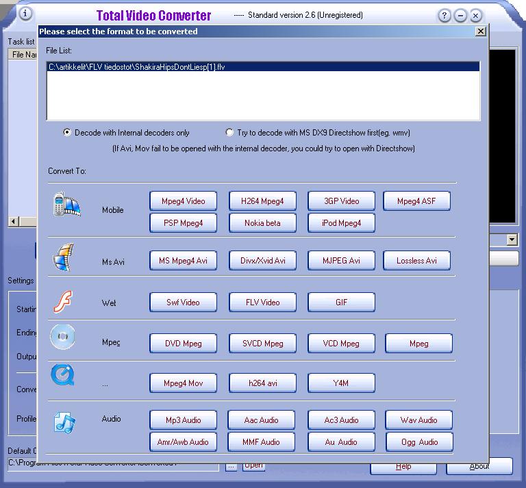 tvc converter free download