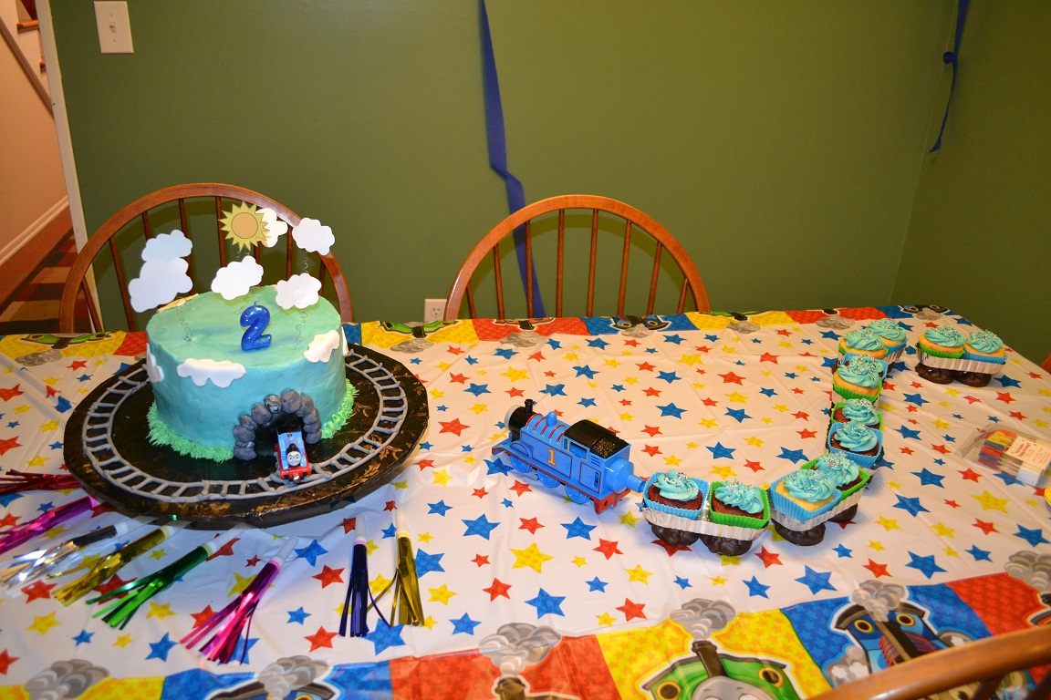 An Easy Thomas The Train Birthday Cake