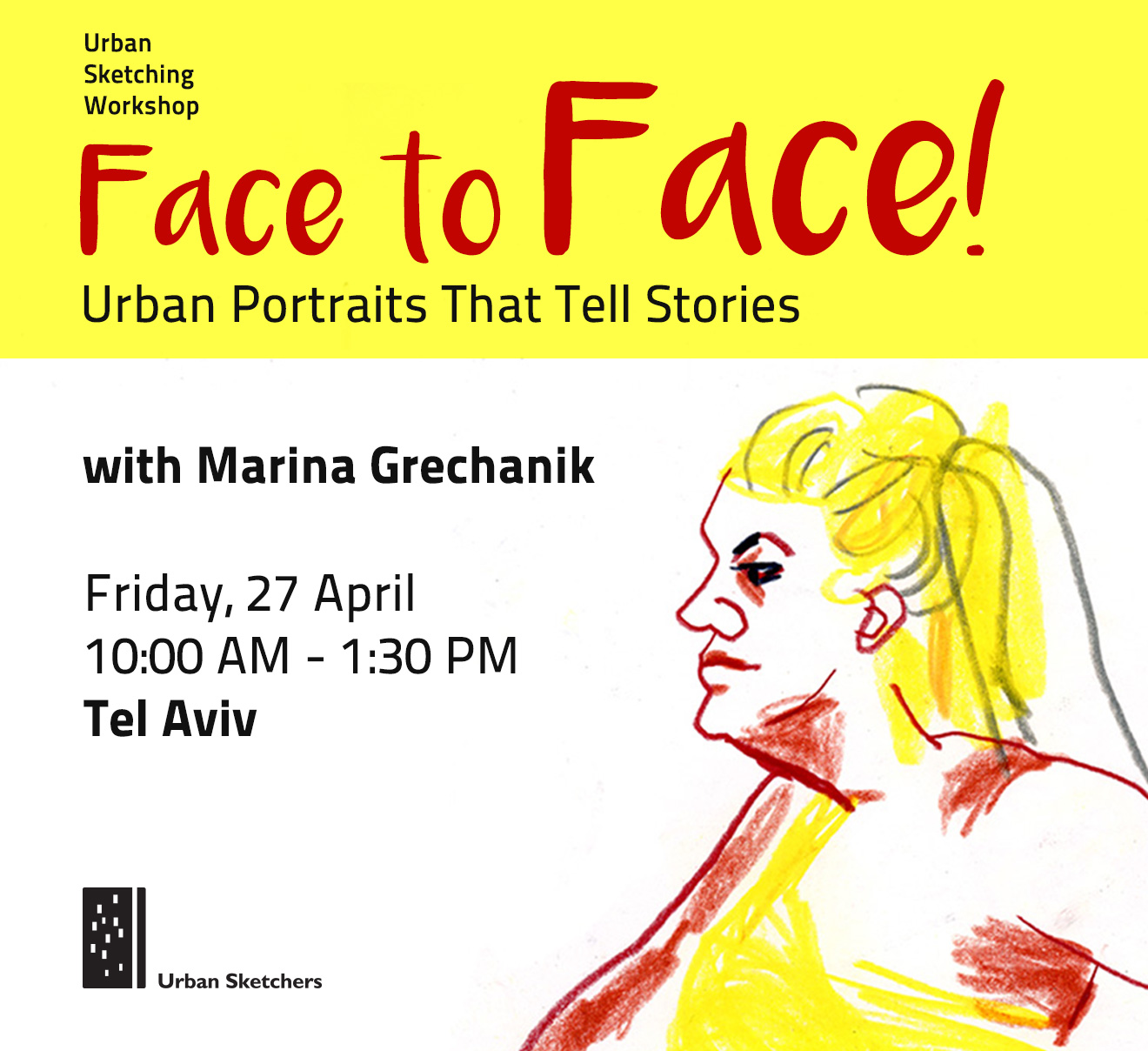 Face to Face! Urban Portraits That Tell Stories | Urban Sketchers