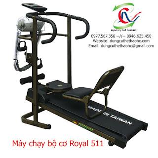 Máy chạy bộ cơ 5 chức năng ROYAL 511