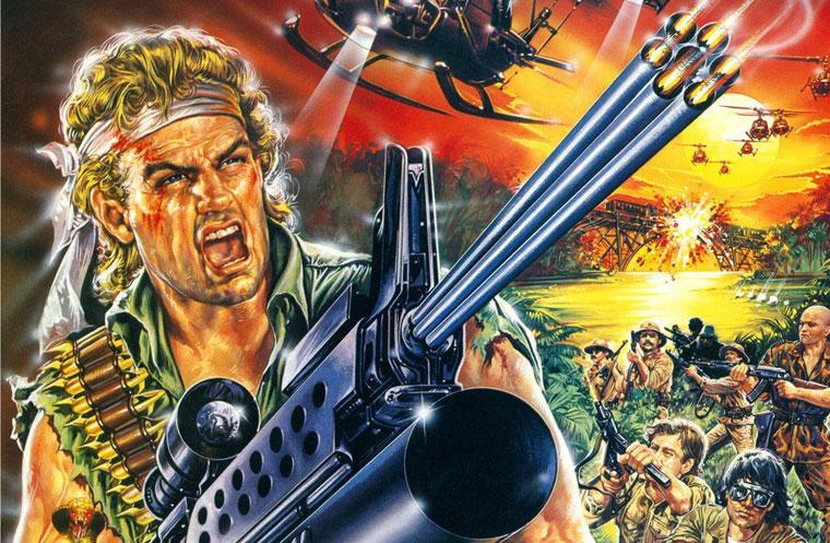 Michael Ransom (Reb Brown) auf dem Filmplakat zu COBRA FORCE (1987). Quelle: Verleih