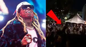 LIL Wayne concert ends in fear of  fire screams
