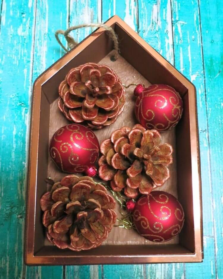 Adorno navideño DIY en una caja. Tutorial