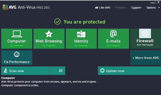 Protect & Cure Your Computer Download Latest Free AVG Antivirus