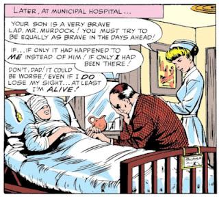 Daredevil #1, Matt Murdock blind