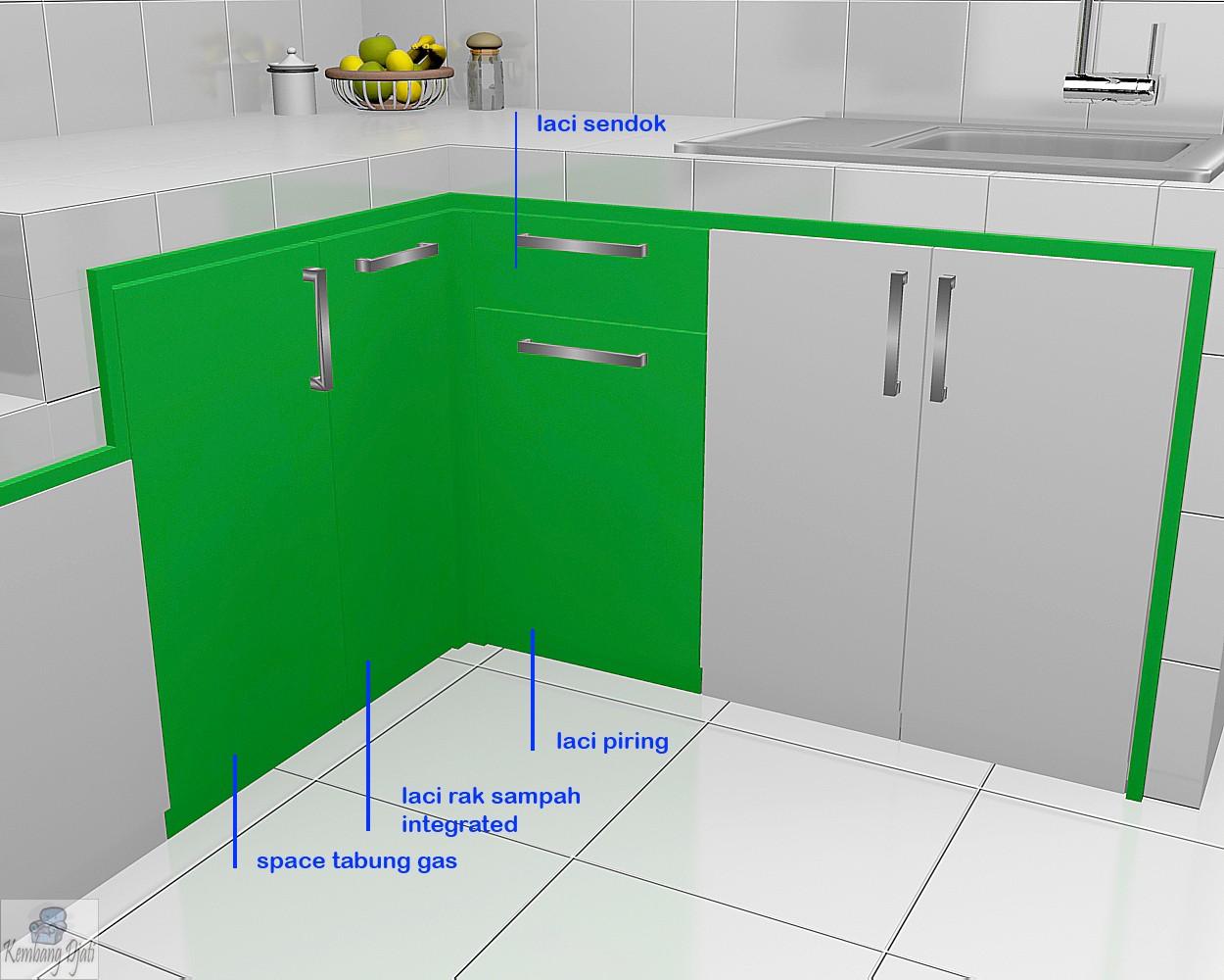 Kitchen Set Semarang - Desain Tinggi Sampai Plafon - Furniture Semarang