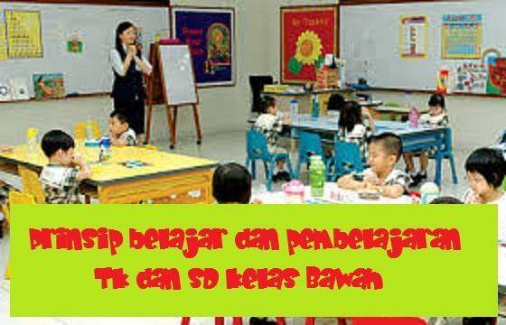 PRINSIP  BELAJAR  DAN PEMBELAJARAN DI Taman Kanak-kanak DAN SD KELAS BAWAH PRINSIP  BELAJAR  DAN PEMBELAJARAN DI Taman Kanak-kanak DAN SD KELAS BAWAH