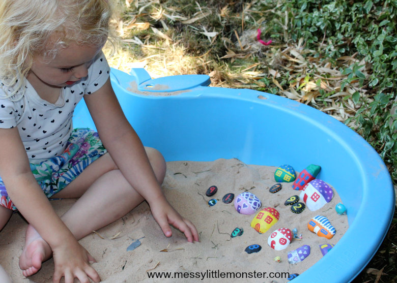 painted rock crafts for preschoolers
