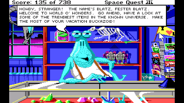 Screenshot from Space Quest III of Fester Blatz