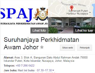 Rasmi - Jawatan Kosong (SPAJ) Suruhanjaya Perkhidmatan Awam Johor Terkini 2019