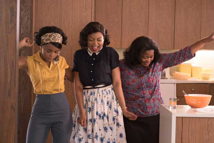 Janelle Monae, Taraji P. Henson, and Octavia Spencer star in Hidden Figures.