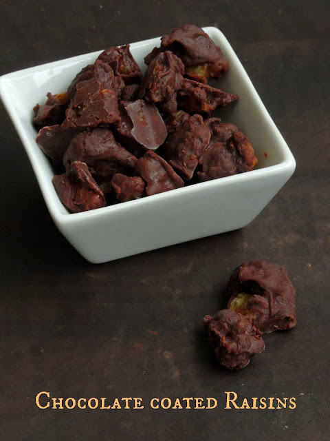 Chocolate covered Golden Raisins