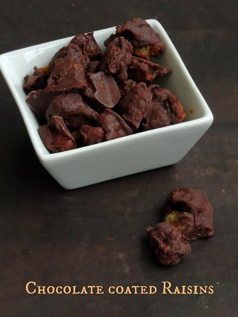 Chocolate covered Golden Raisins