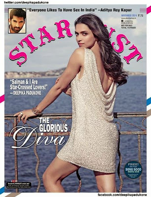 Deepika Padukone as she adorns the cover of Stardust's November 2014