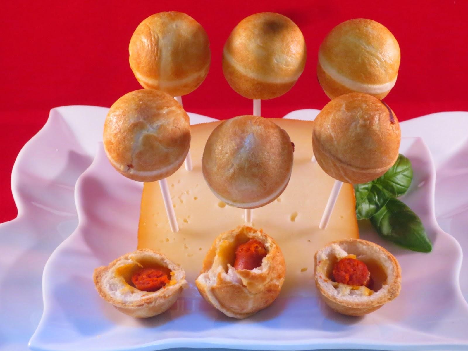 Cake pops de salchichas frescas Ana Sevilla cocina tradicional