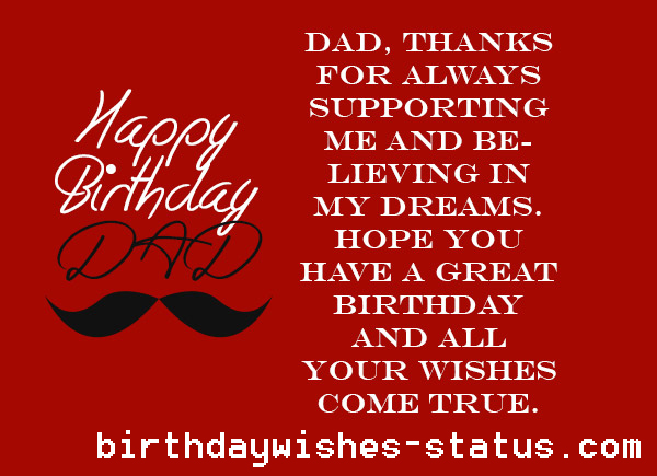 Birthday Wishes For Father Health ~ Birthday wishes for father happy dad daddy papa