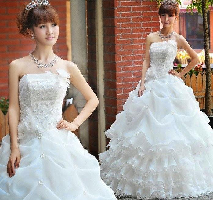 Koleksi Gaun Dress Pengantin Pesta Wedding Dress Korean Jutaan
