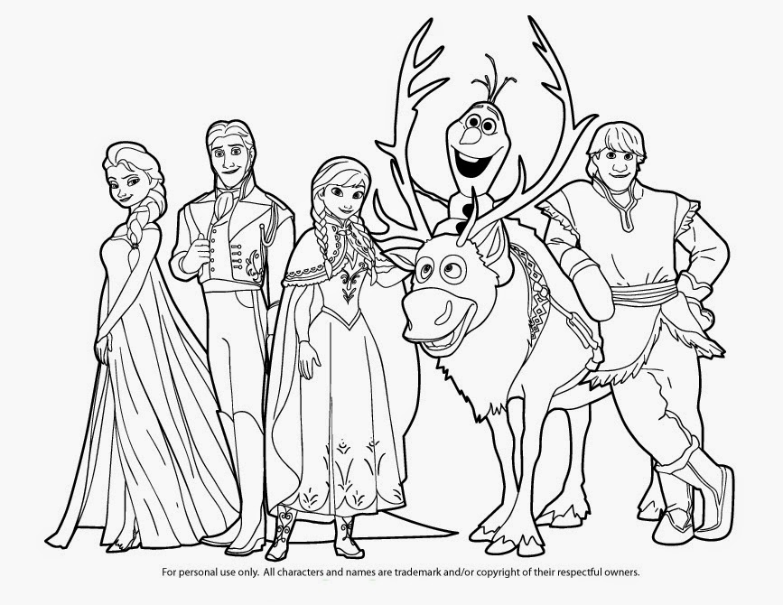 15 Beautiful Disney Frozen Coloring Pages Free ~ Instant