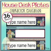 House Desk Plates - Character Education