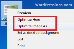 Compressor option of image