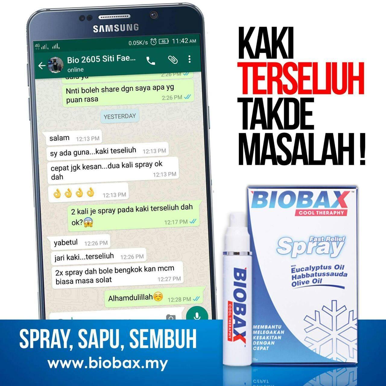 mak kawan puji Biobax dapat legakan sakit kaki dengan segera!