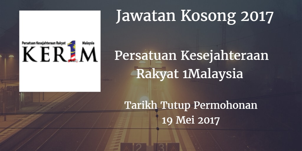 Jawatan Kosong KER1M 19 Mei 2017