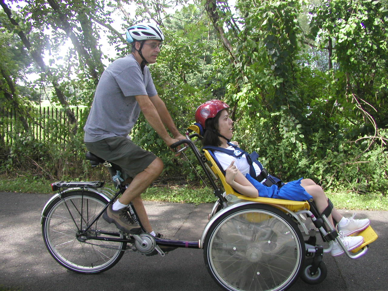 The Bike Chair Old Metal Lawn Chairs Everyone Outdoors Duet Wheelchair Tandem Allows A New Drivers Should Test Ride First By Riding It With No One In So You Can Feel How Reacts Before Place Someone Front Seat