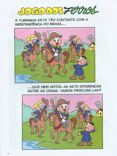 jogo dos 7 erros sobre a independencia do brasil