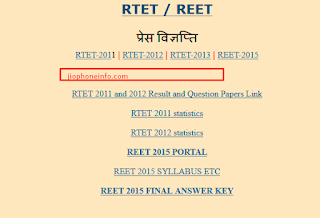 Download REET Admit Card 2018