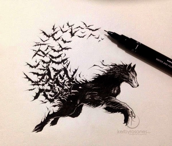 27-Vampire-Wolf-Kerby-Rosanes-Detailed-Moleskine-Doodles-Illustrations-and-Drawings-www-designstack-co